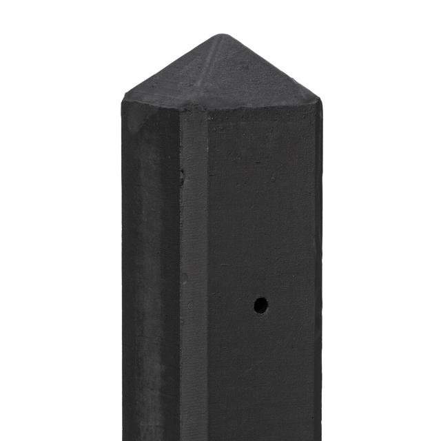 Betonpaal SCHIE rotsmotief gecoat diamantkop 10x10x280cm tbv 2 motiefplaten 1.58001C