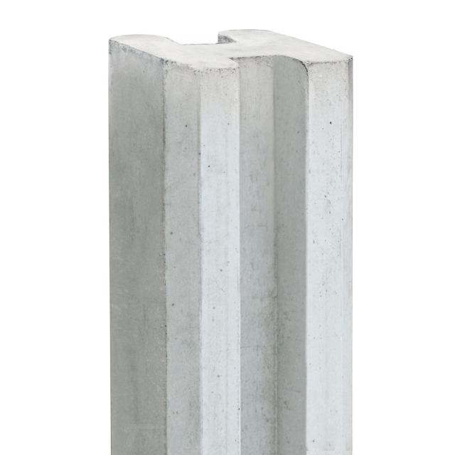 Sleufbetonpaal LINDE wit/grijs 11,5x11,5x316cm 1.54316