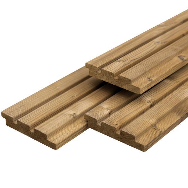 Tripple profiel steamed 5* class wood 1.8x14,1x300cm