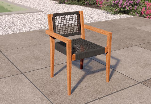 Stapelbare stoel Toledo Teak