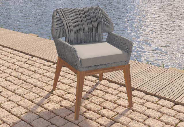Teak stoel Granada met kussen 31.0221