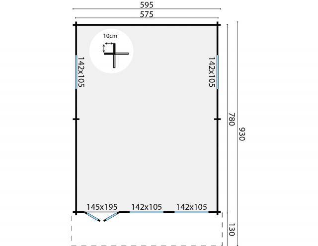 Blokhut Ballyragget Puntdak  40.7327