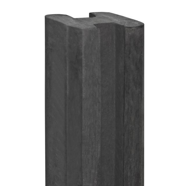 Sleufbetonpaal VECHT antraciet 10x10x250cm  1.51250