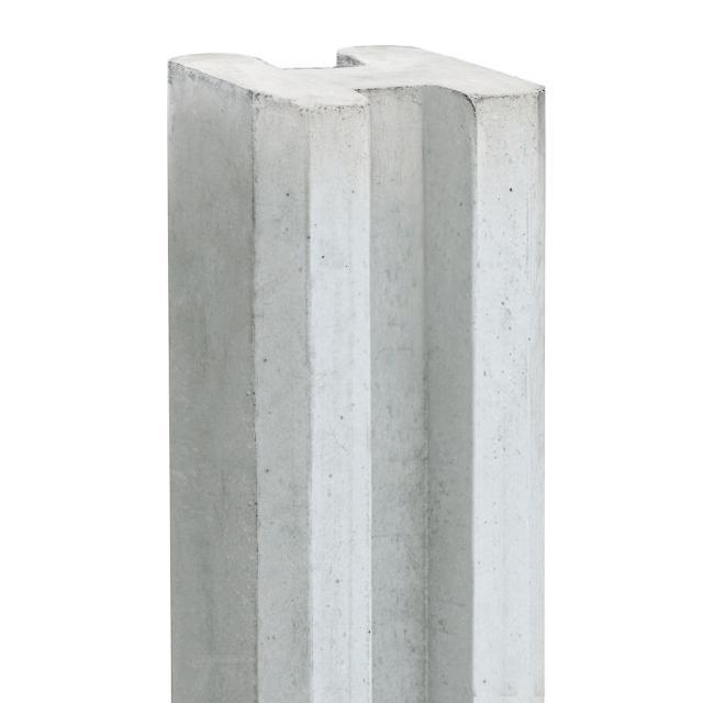 Sleufhoekpaal REGGE wit/grijs 11,5x11,5x246cm 1.54246H