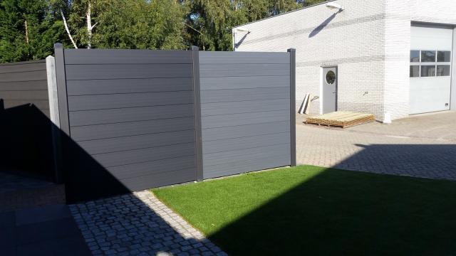 Duvano Kunststof/ Glasvezel schutting 180x200cm Incl. plaatsen