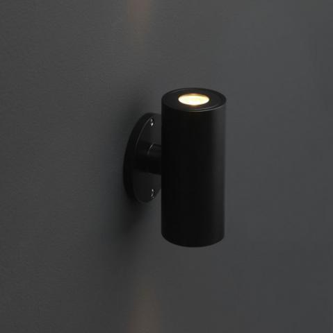 Wandlamp Amadora Zwart