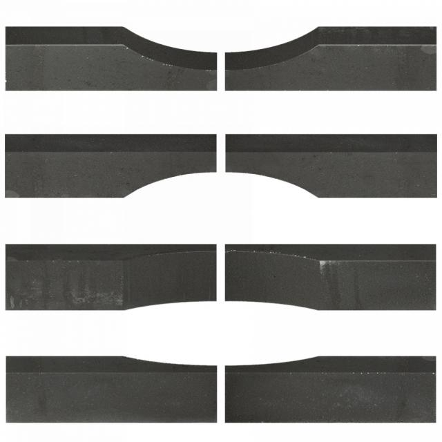 Excluton betonelement Linia Excellence Wave 15x15x60 cm Nero