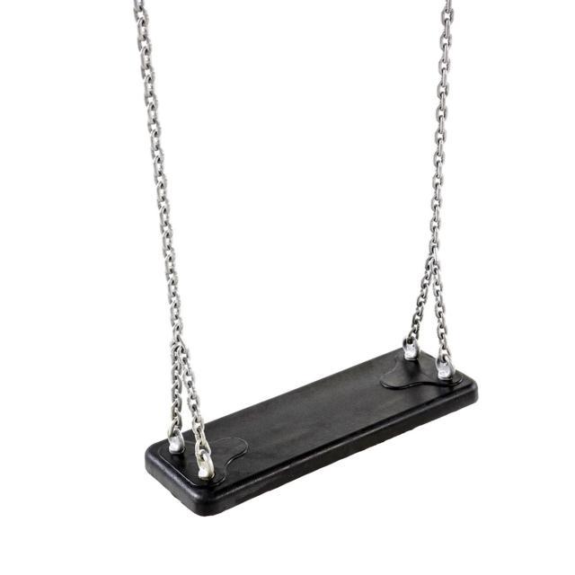 Schommelzit zwart rubber met ketting 32.0023