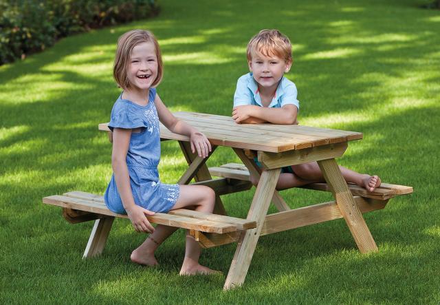 Kinderpicknicktafel geimpregneerd vuren