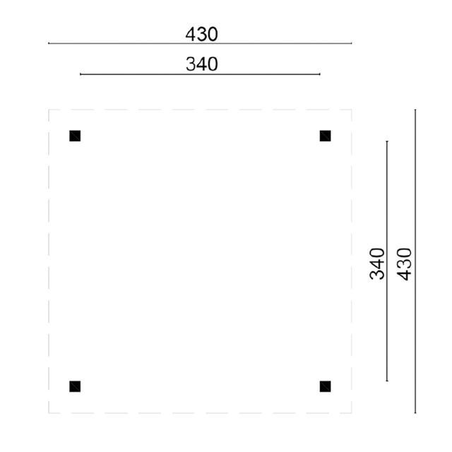 Prieel Obdam - Piramide dak 45.9018B