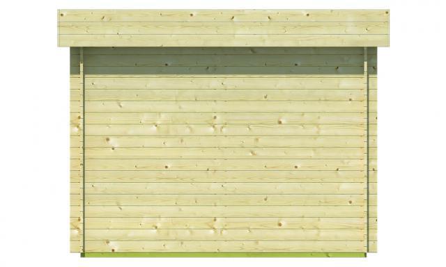 Blokhut Bodine Plat dak 40.0745