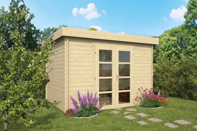 Blokhut Hypermodern Plat dak