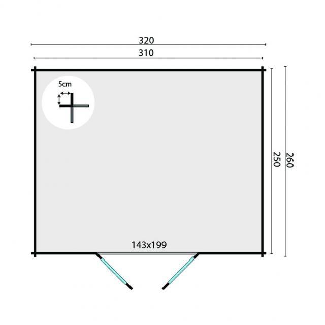 Blokhut Hypermodern Plat dak 40.0777