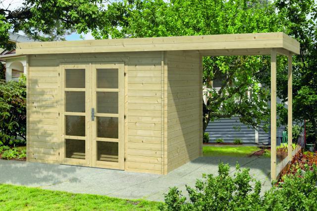Blokhut Middelmodern Plat dak