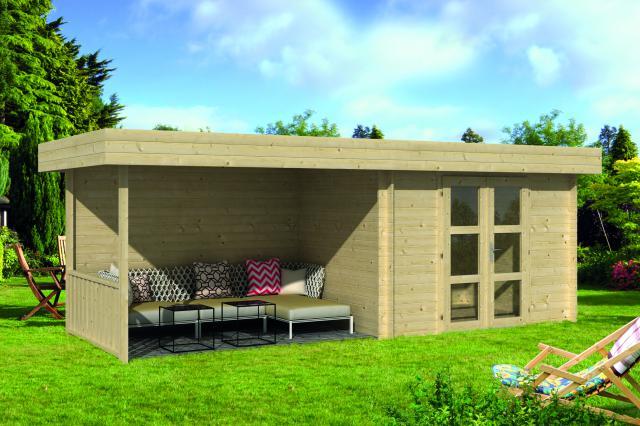 Blokhut Maja Plat dak