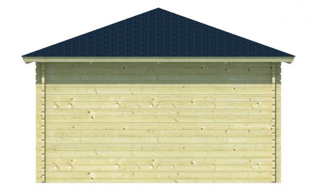 Blokhut Marit met veranda Piramidedak 40.0794