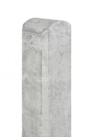 Betonpaal wit/grijs ronde kop 10x10x280cm