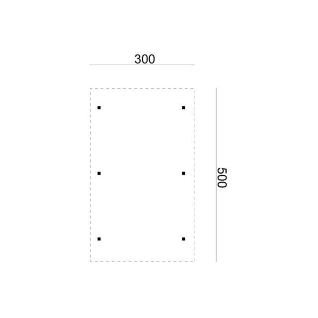 Carport Enkel/aanbouw plat dak 41.0002
