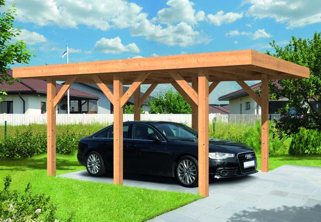 Doe-het-zelf Carport Sloten Plat dak