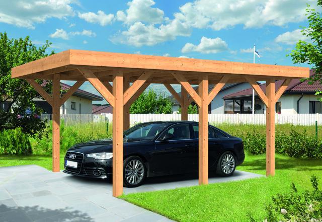 Doe-het-zelf Carport Lemmer Plat dak