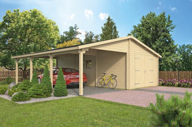 Garage-Carport Berggren puntdak