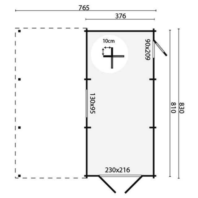Garage-Carport Berggren puntdak 40.0796