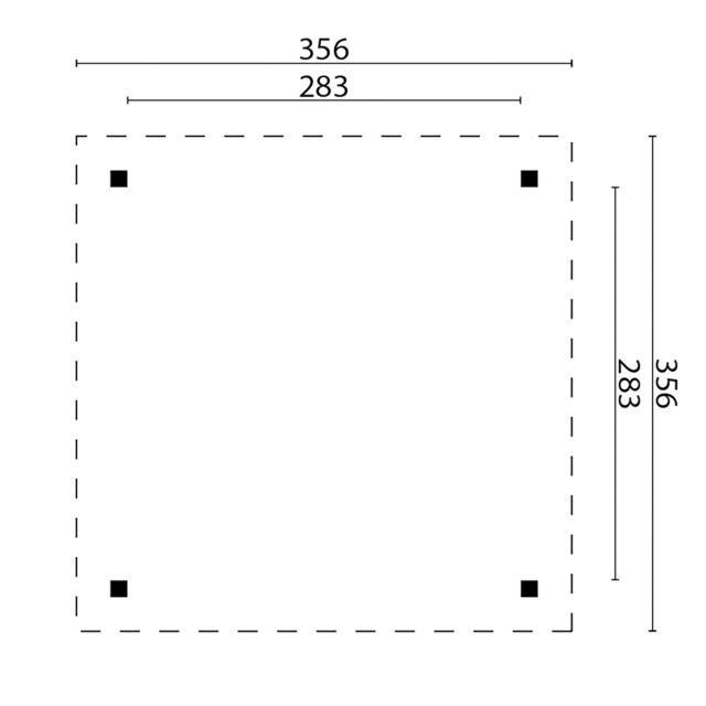 Prieel Modern Middel - Plat dak 42.3636N