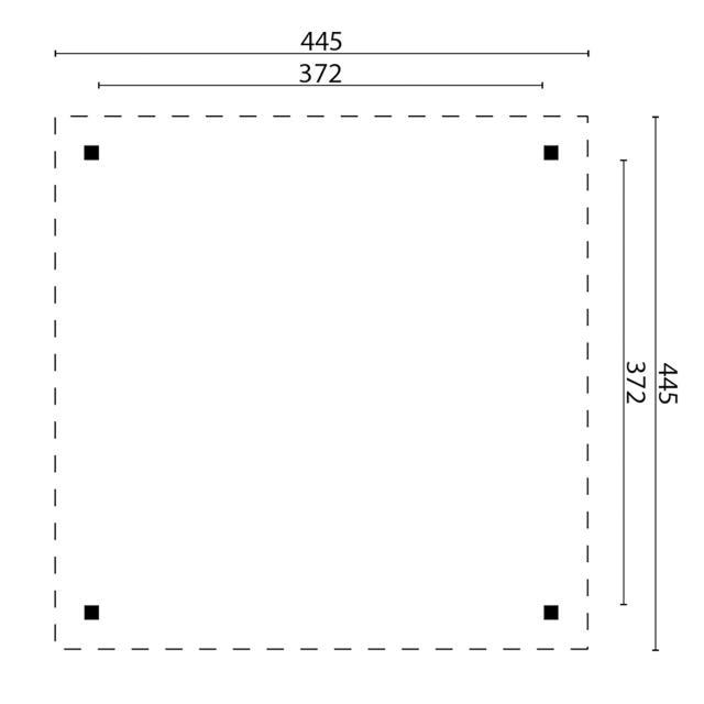 Prieel Modern Groot - Plat dak 42.4646N
