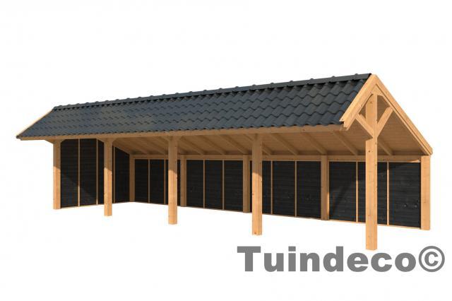 Overkapping Tuin Hout : Overkapping dwingeloo type 8 kapschuur kopen bij tuinhout centrum
