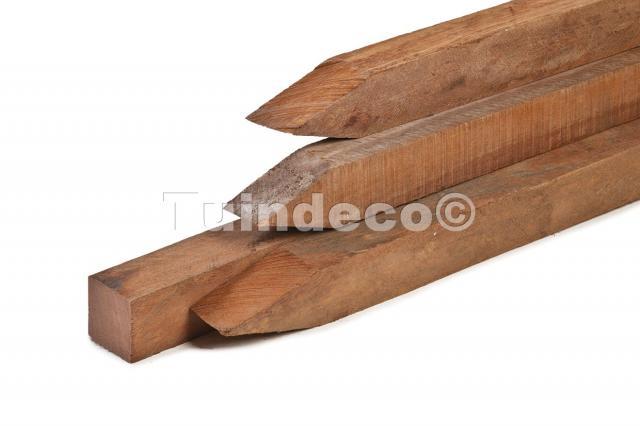 Hardhouten azobe paal fijnbezaagd 275cm