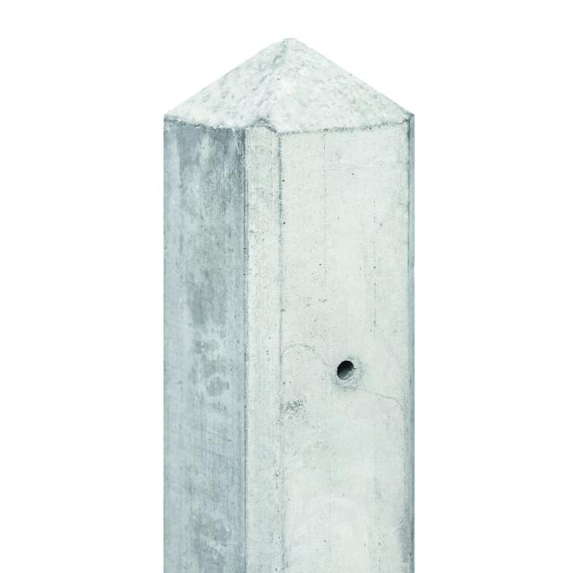 Betonpaal MAAS wit/grijs diamantkop 10x10x308cm tbv 2 platen 1.52308