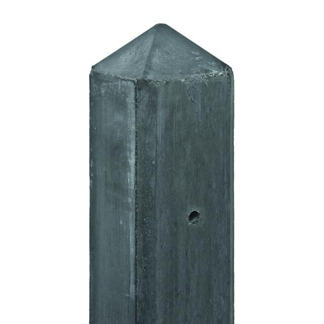 Betonpaal antraciet diamantkop 10x10x308cm tbv 2 platen