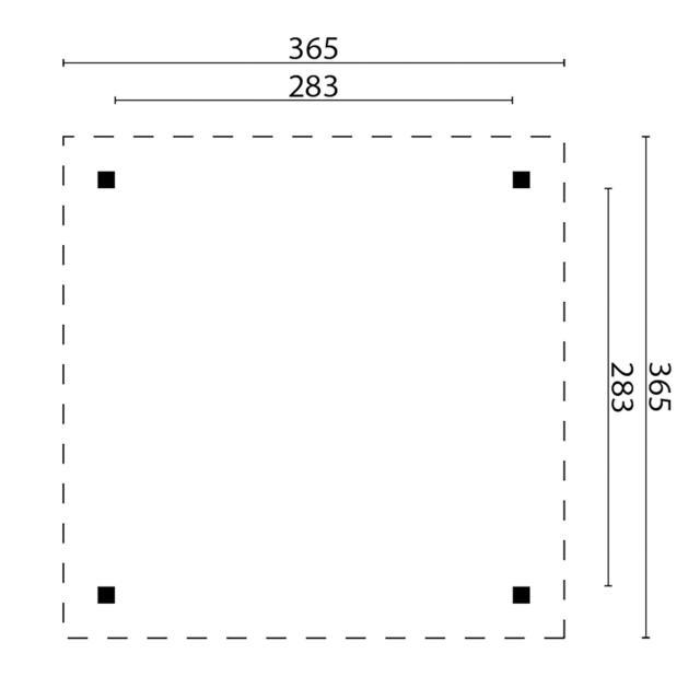 Prieel Kreta - Plat dak 45.3636N