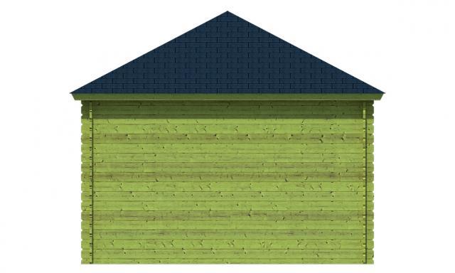 Blokhutprieel Mitch met veranda Piramidedak Geimpregneerd 40.7185G