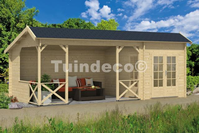 Blokhut Kukka met veranda Kapschuur