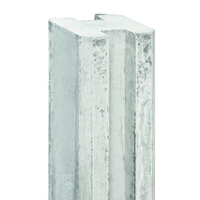 Sleufbetonpaal SPAARNE wit/grijs 11,5x11,5x280cm 1.54280