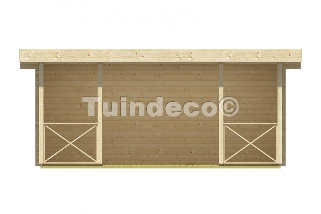 Blokhut Konstantin met veranda platdak 40.0756