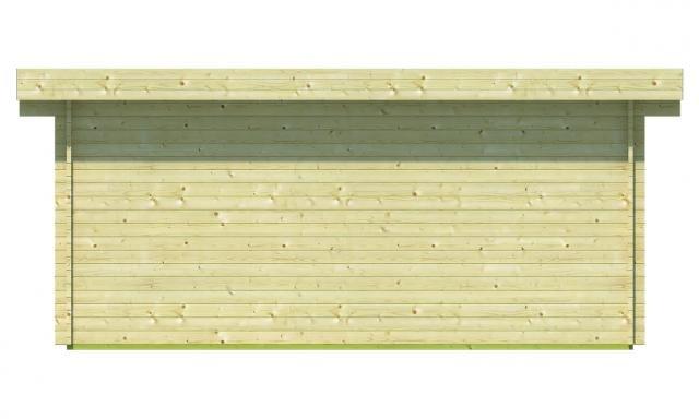 Blokhut Konstantin met veranda plat dak 40.0756