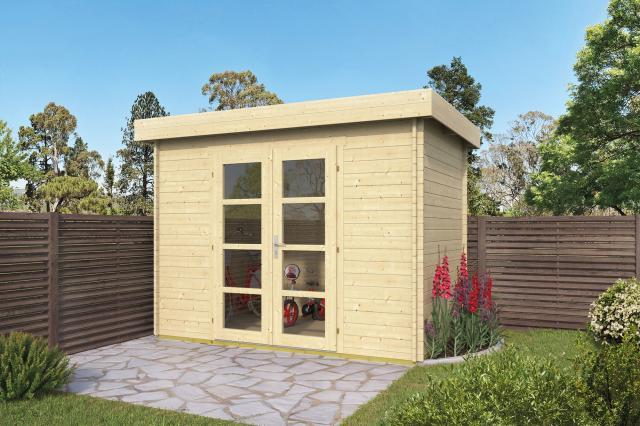 Blokhut Minimodern Plat dak