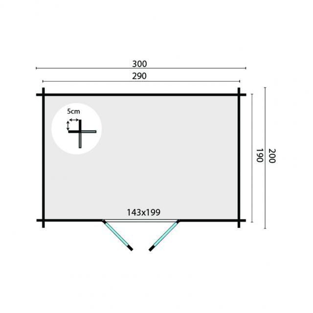Blokhut Minimodern Plat dak 40.0790