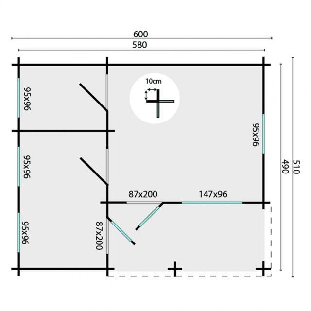 Blokhut Edelweiss Puntdak 40.0866